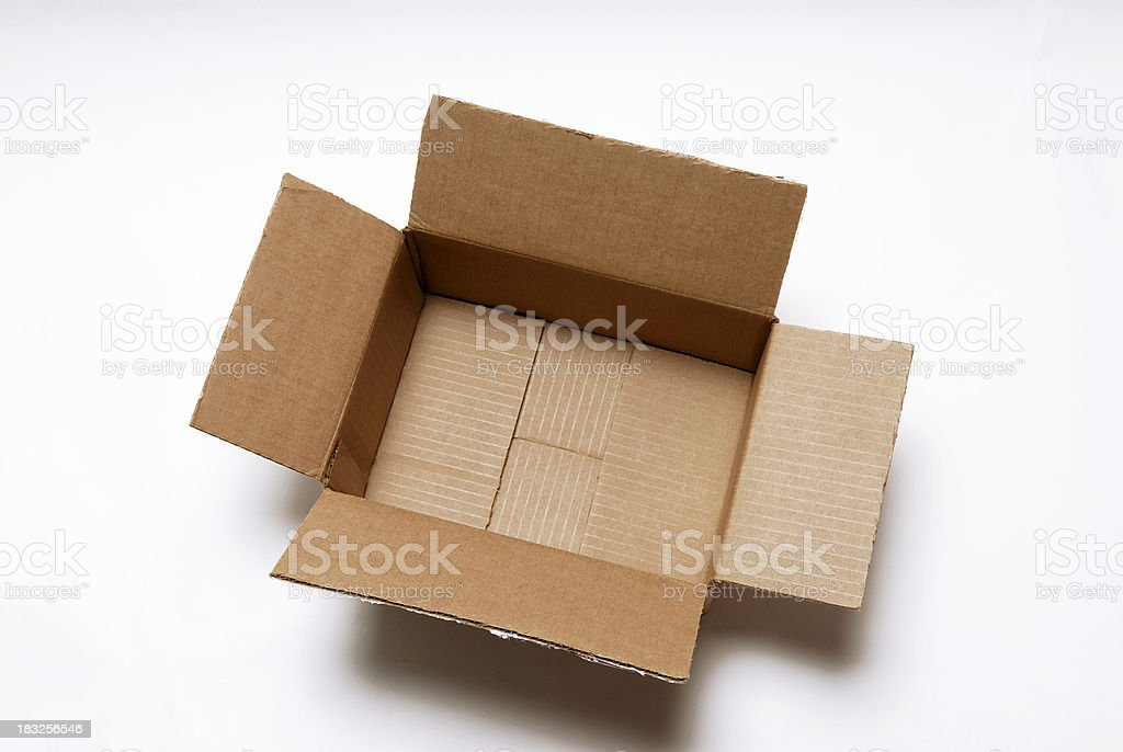 Empty box #2 angled royalty-free stock photo