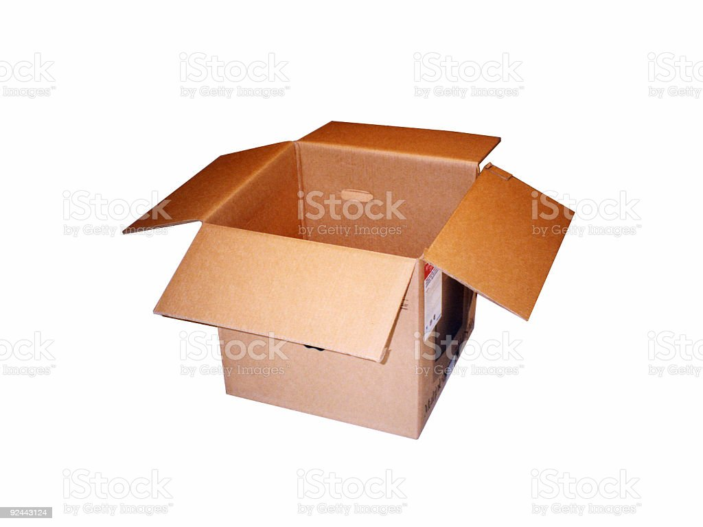 Empty Box (with clipping path) stock photo