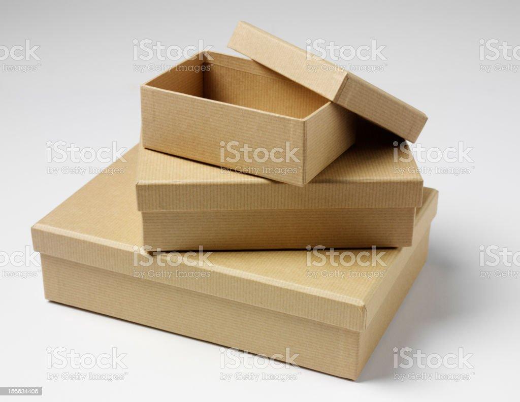 Empty Boxes royalty-free stock photo