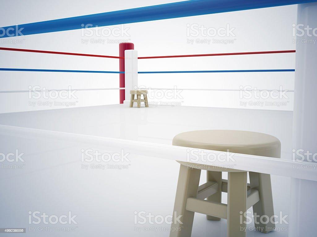 empty boxing ring stock photo