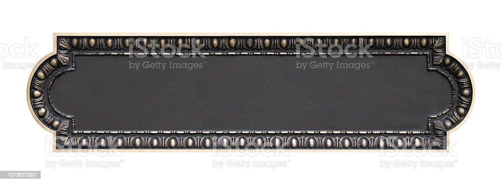 Empty Brass Plaque stock photo
