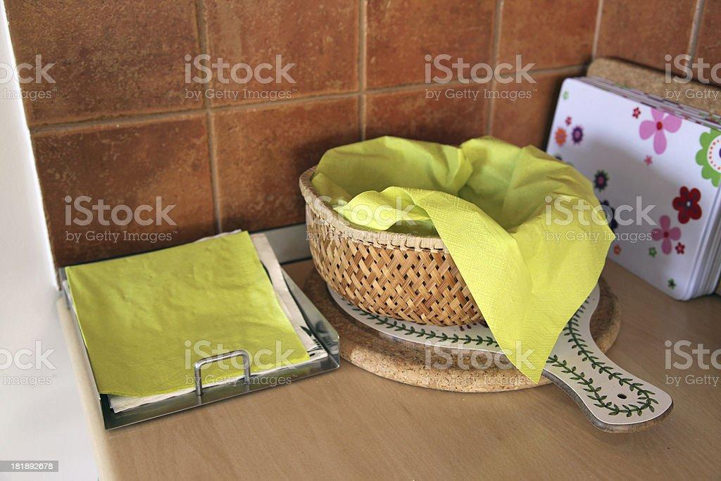 Empty bread basket royalty-free stock photo