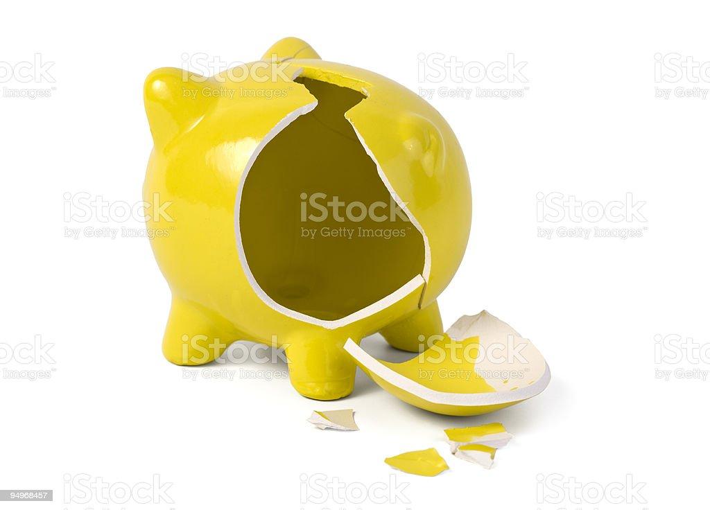 empty broken piggybank royalty-free stock photo