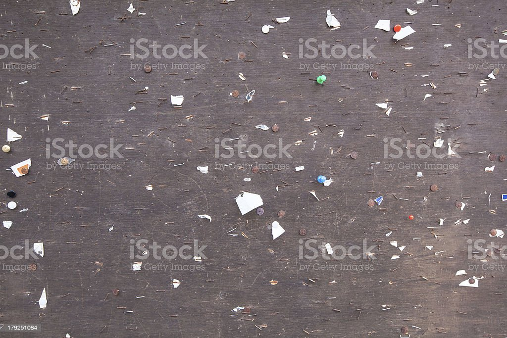 empty brown pin board royalty-free stock photo
