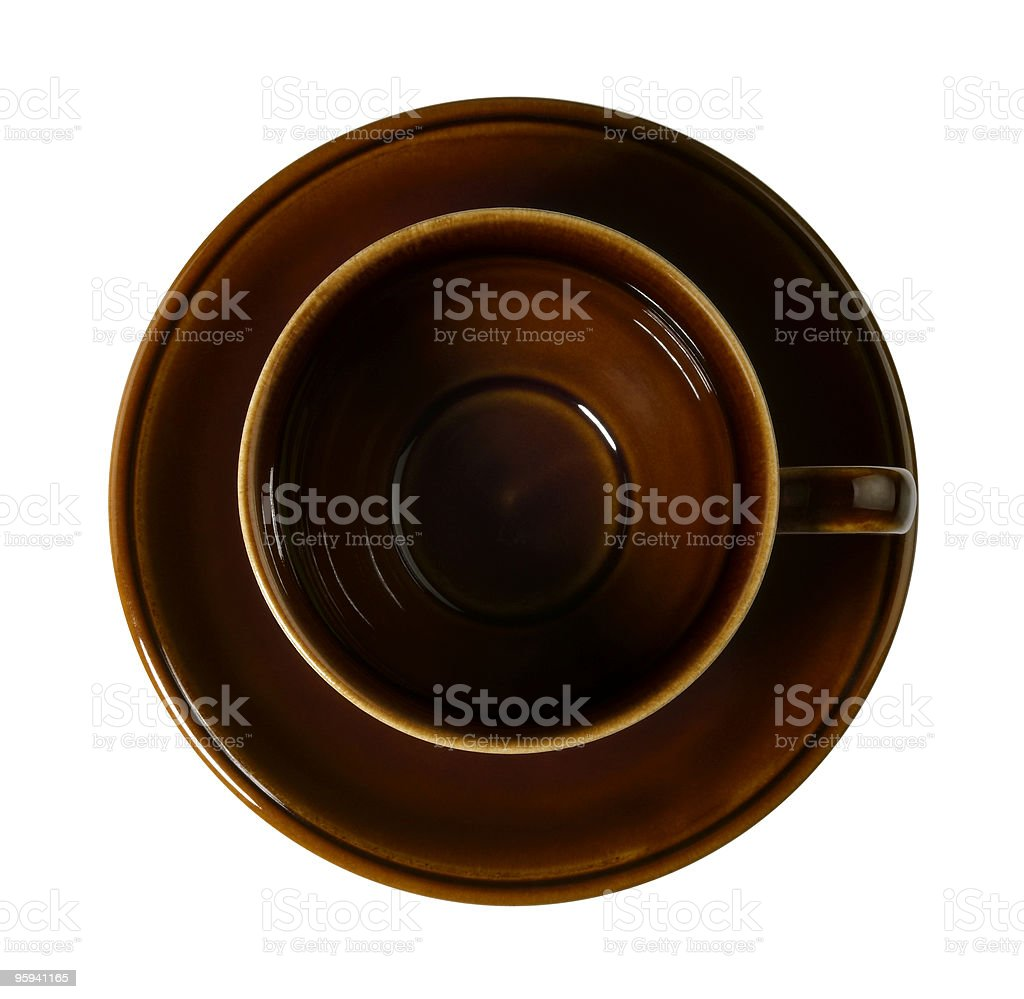 empty brown porcelain cup stock photo