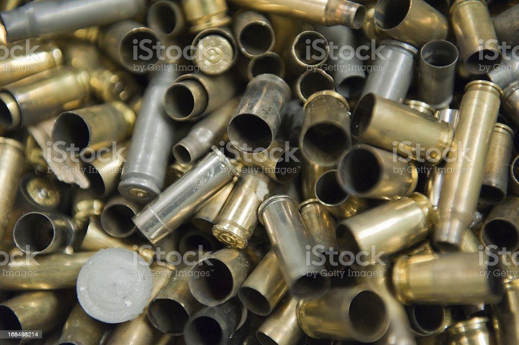 empty bullets stock photo