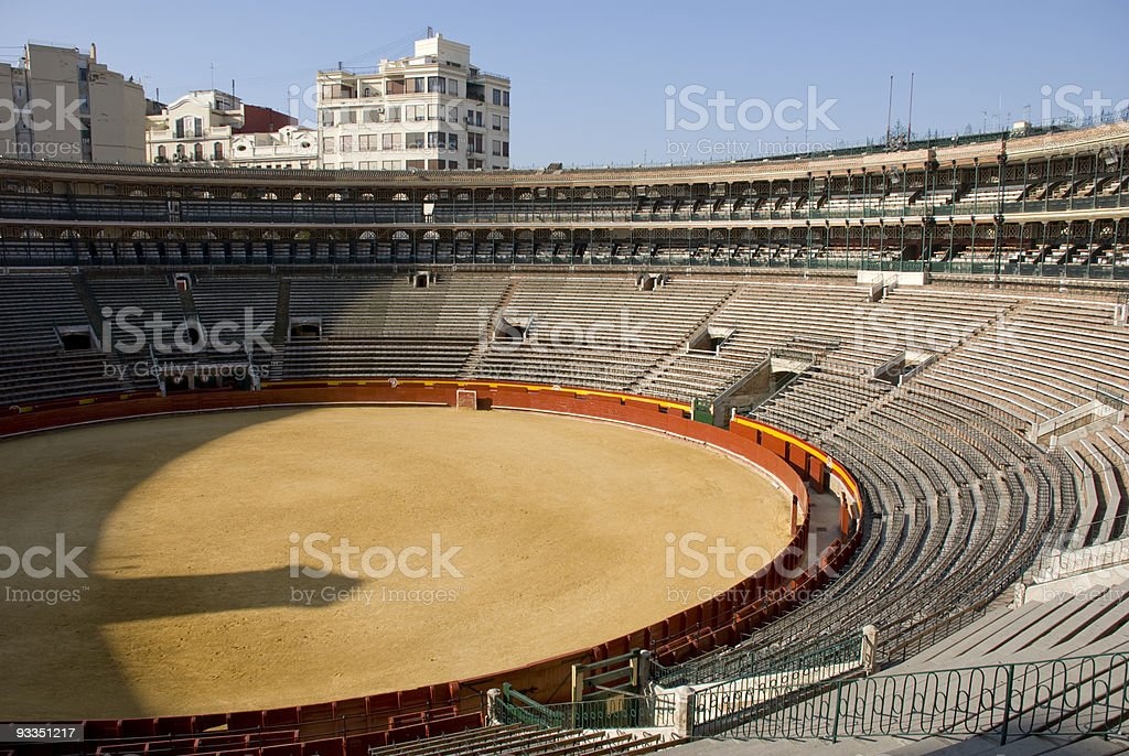 empty bullring stock photo