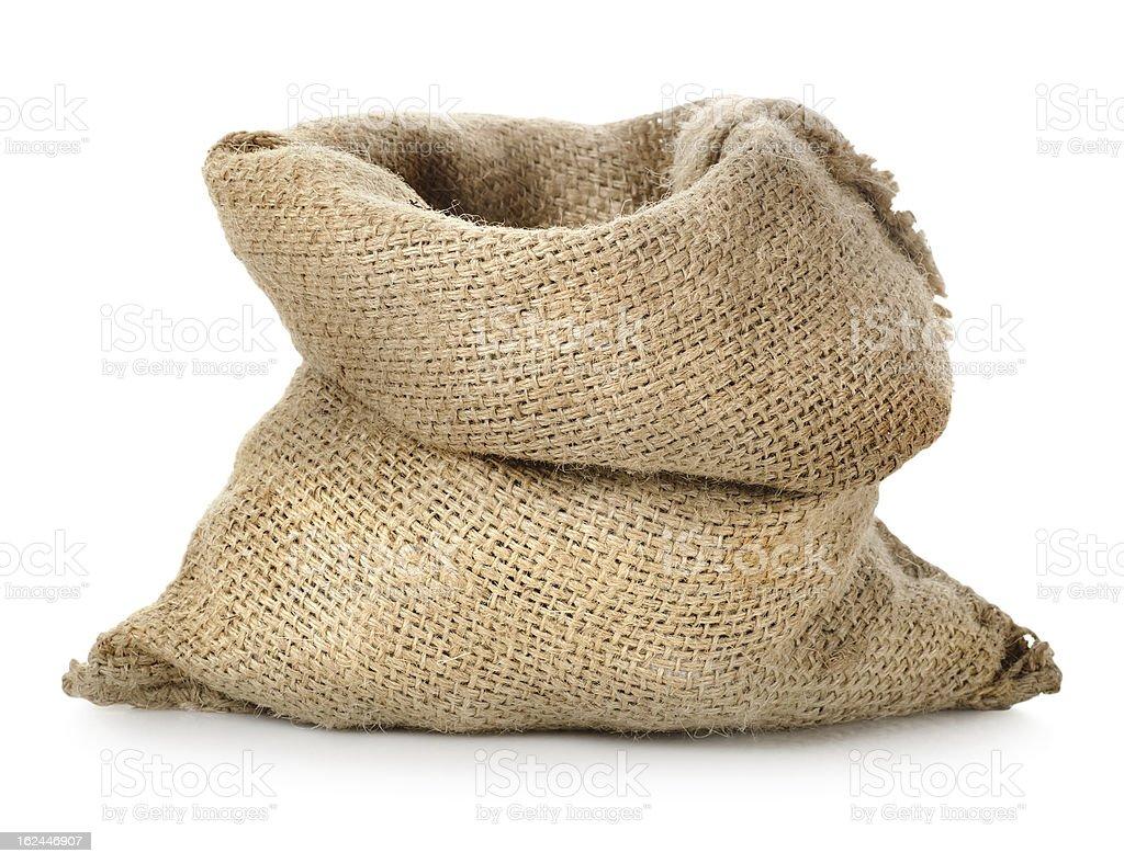 Empty burlap sack royalty-free stock photo