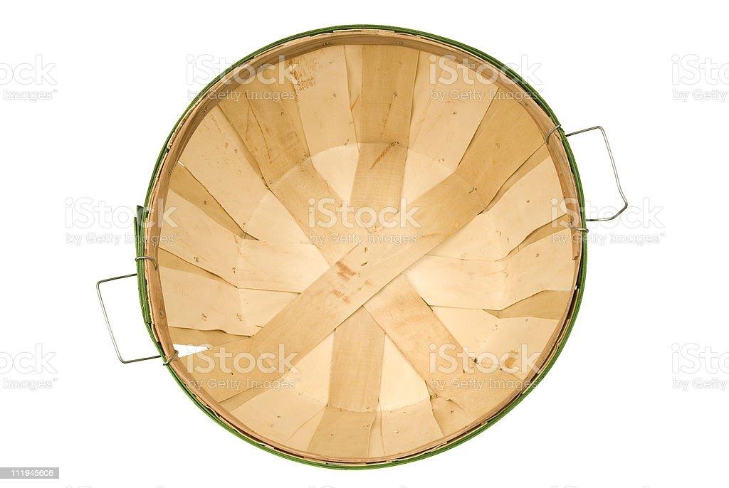 Empty Bushel Basket From Above royalty-free stock photo