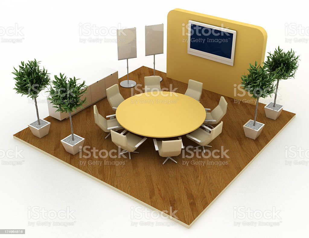 Empty business board room royalty-free stock photo