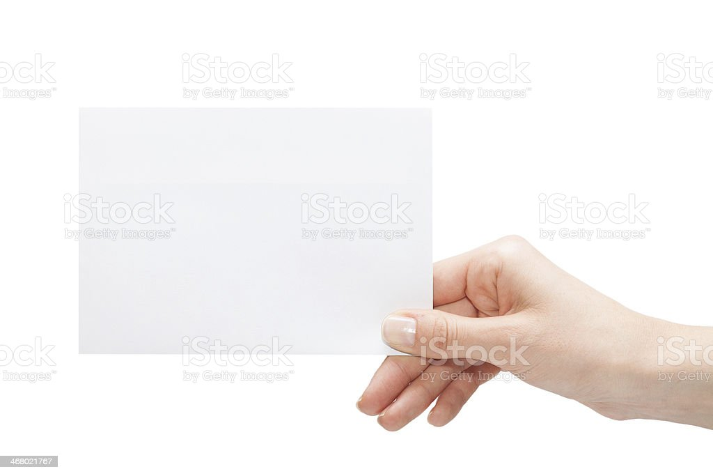 empty business card stock photo