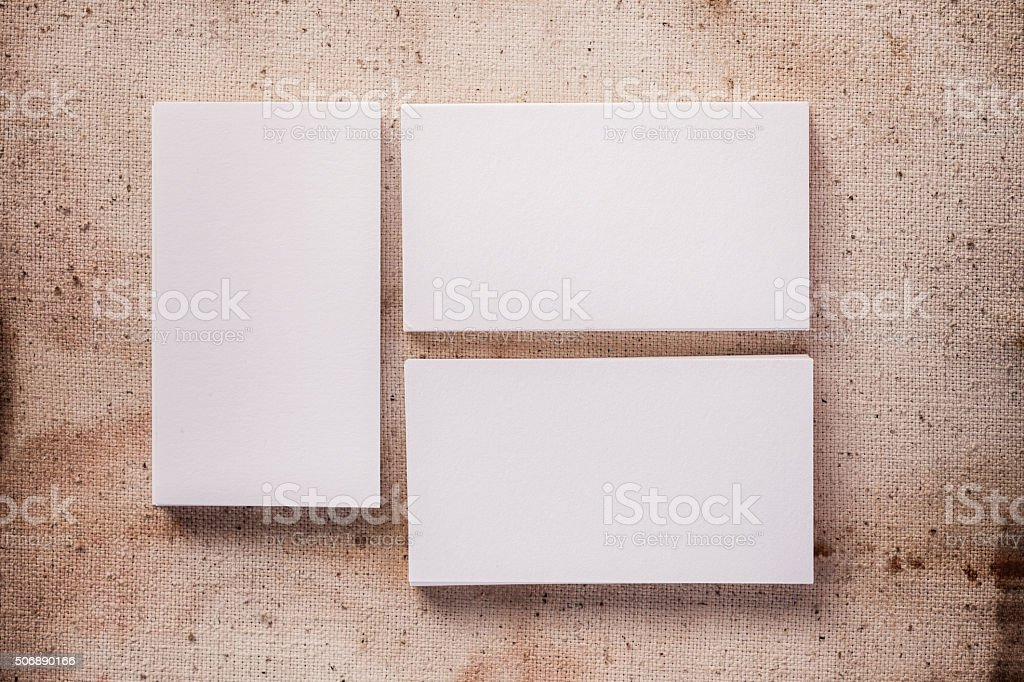 Empty Business Cards Template stock photo