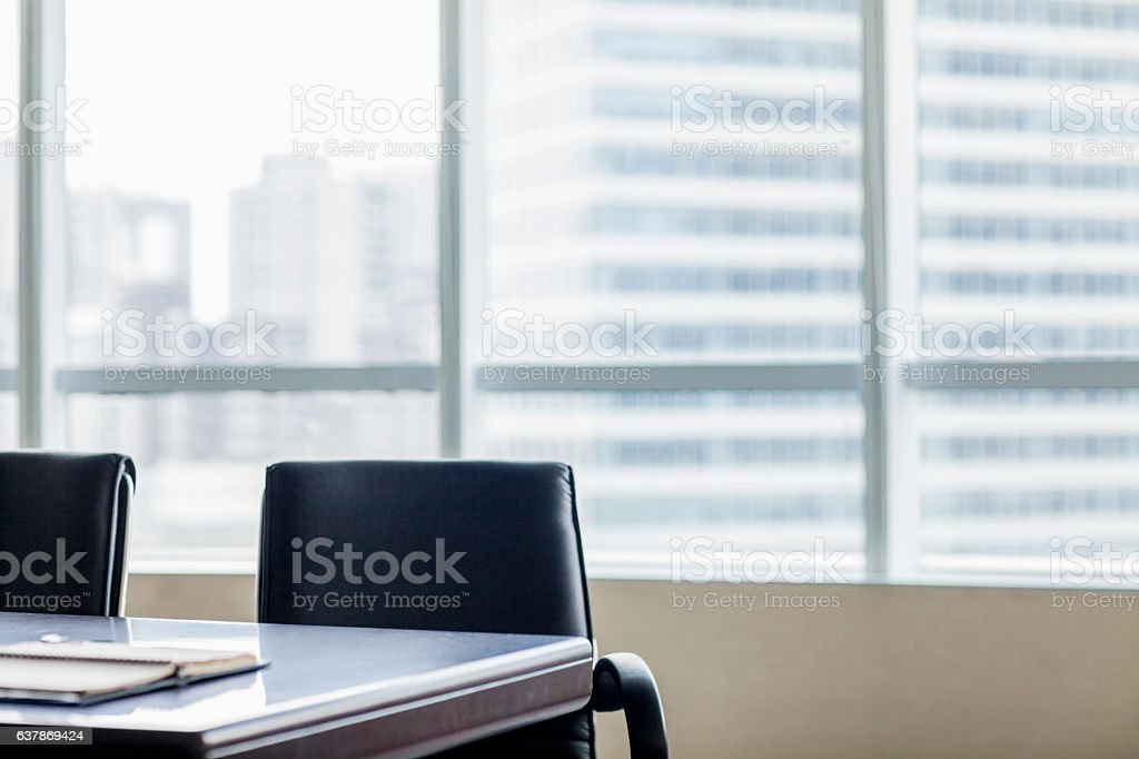 Empty business office with chairs stock photo