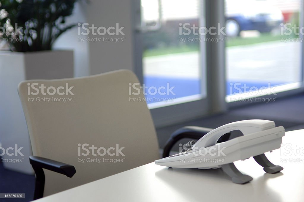 Empty business seat royalty-free stock photo