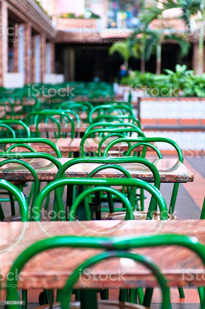 Empty Cafe stock photo