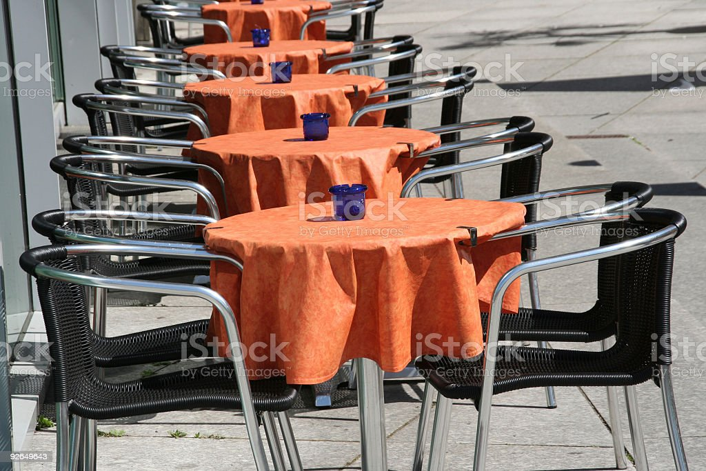 empty cafe with chairs and tables royalty-free stock photo