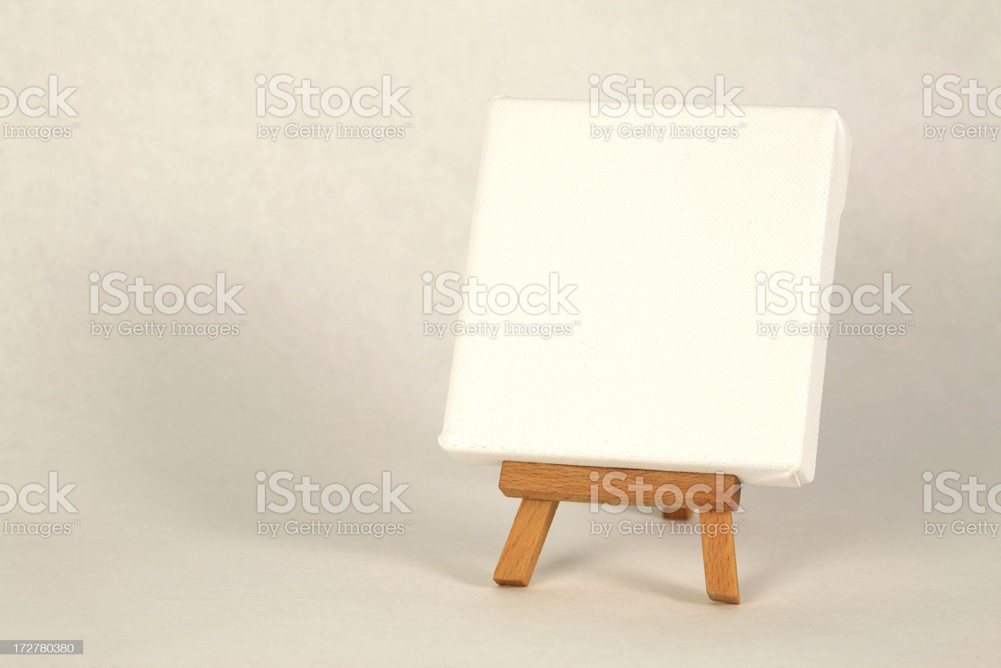 Empty canvas royalty-free stock photo