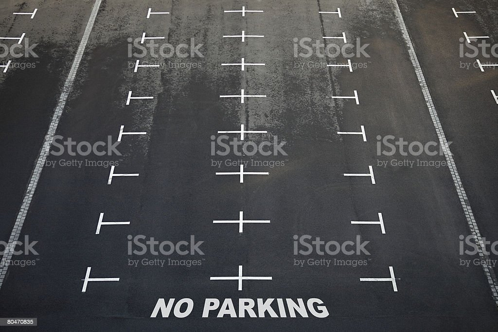 Empty car park royalty-free stock photo