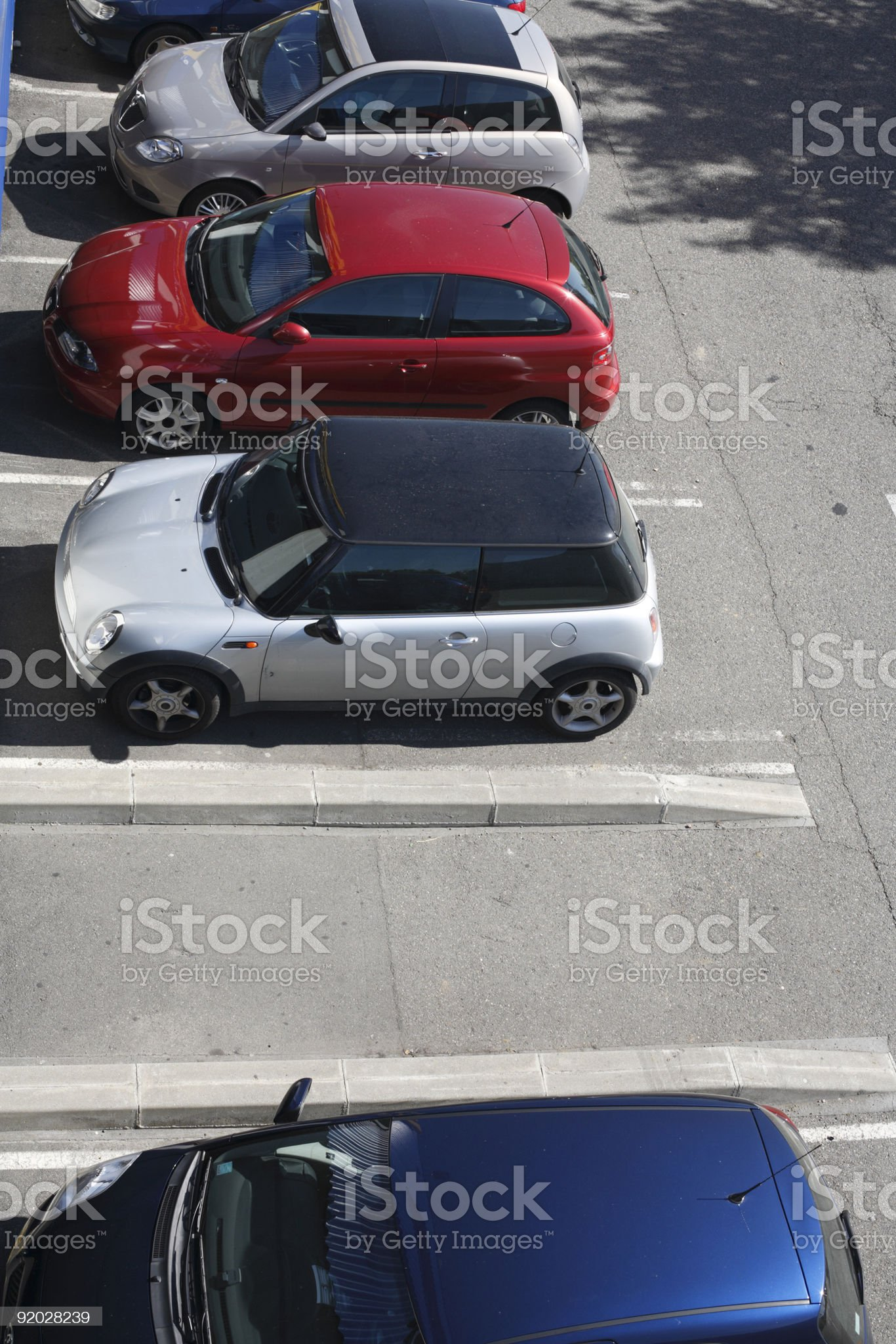 Empty Car Parking Space royalty-free stock photo