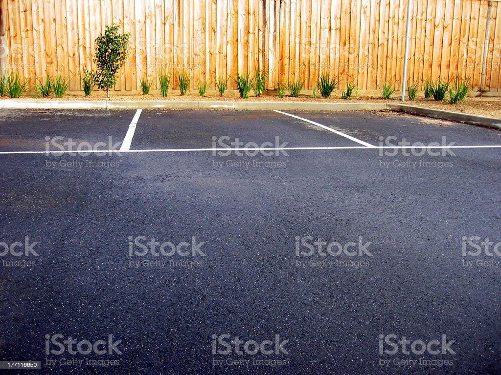 Empty Car Parks royalty-free stock photo