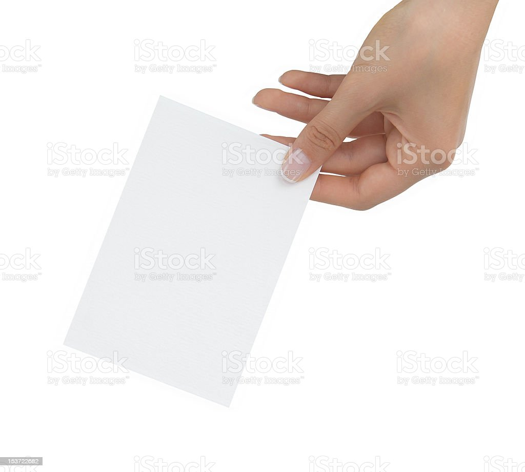 empty card royalty-free stock photo