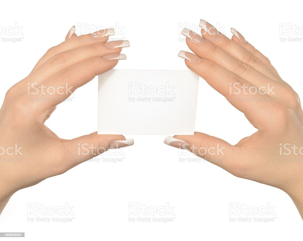 empty card, space for text royalty-free stock photo