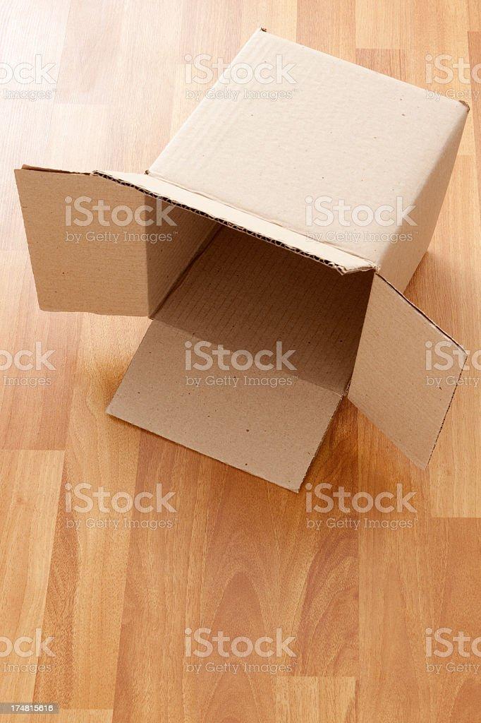 Empty cardboard box royalty-free stock photo