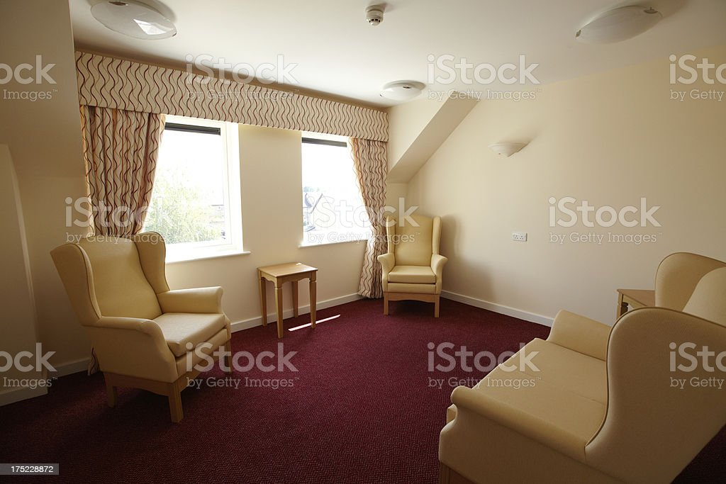 Empty Care Home Room royalty-free stock photo