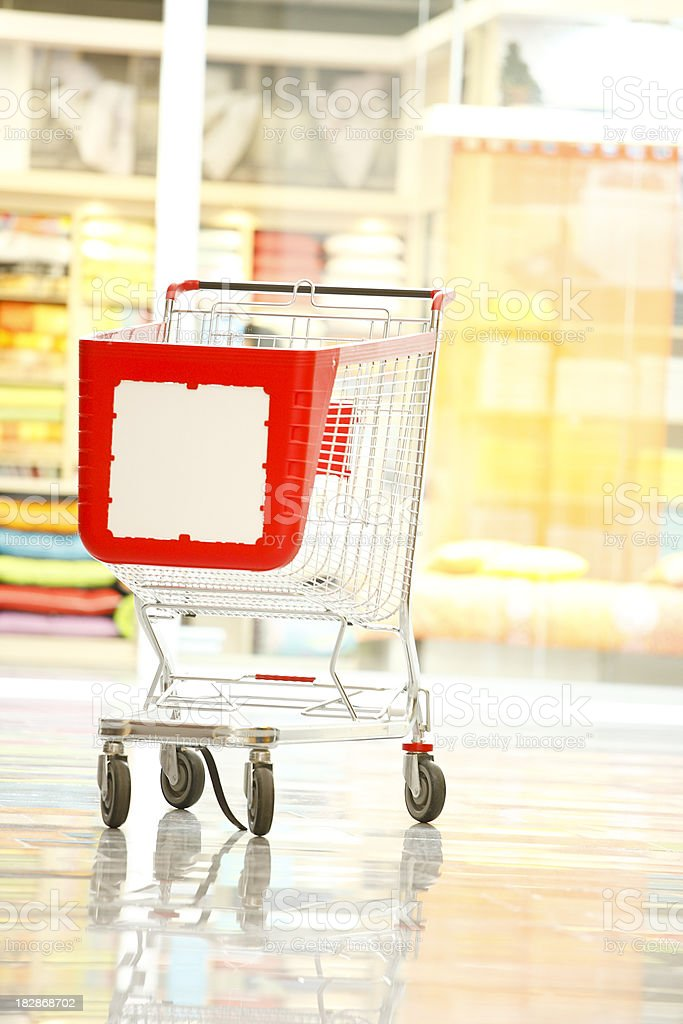 Empty cart in store royalty-free stock photo