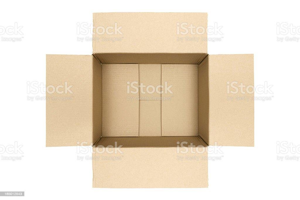 Empty Carton royalty-free stock photo