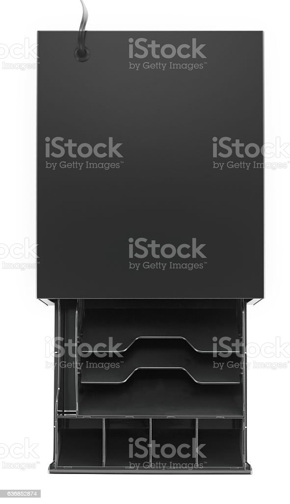 empty cash register(clipping path) stock photo
