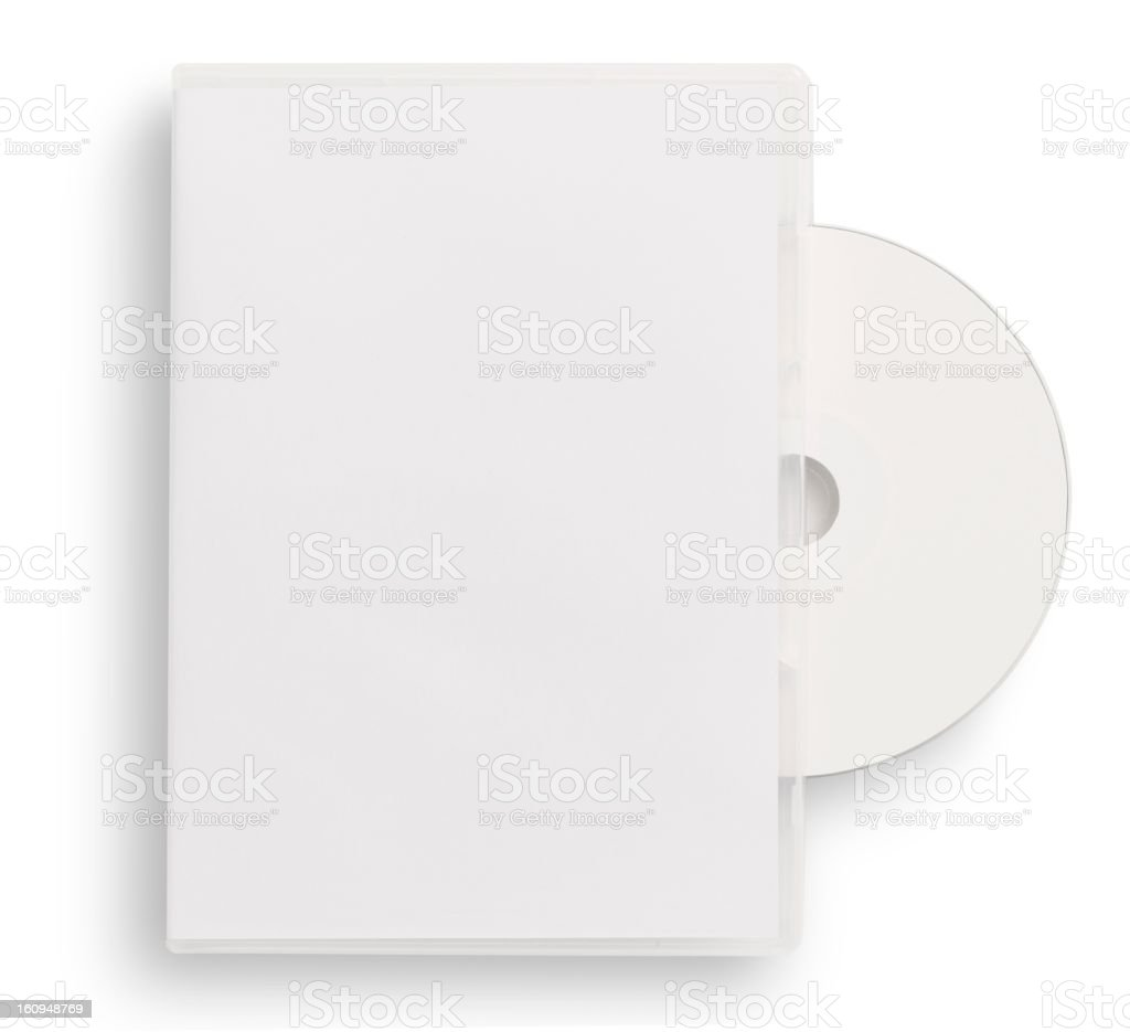 empty CD,DVD case stock photo