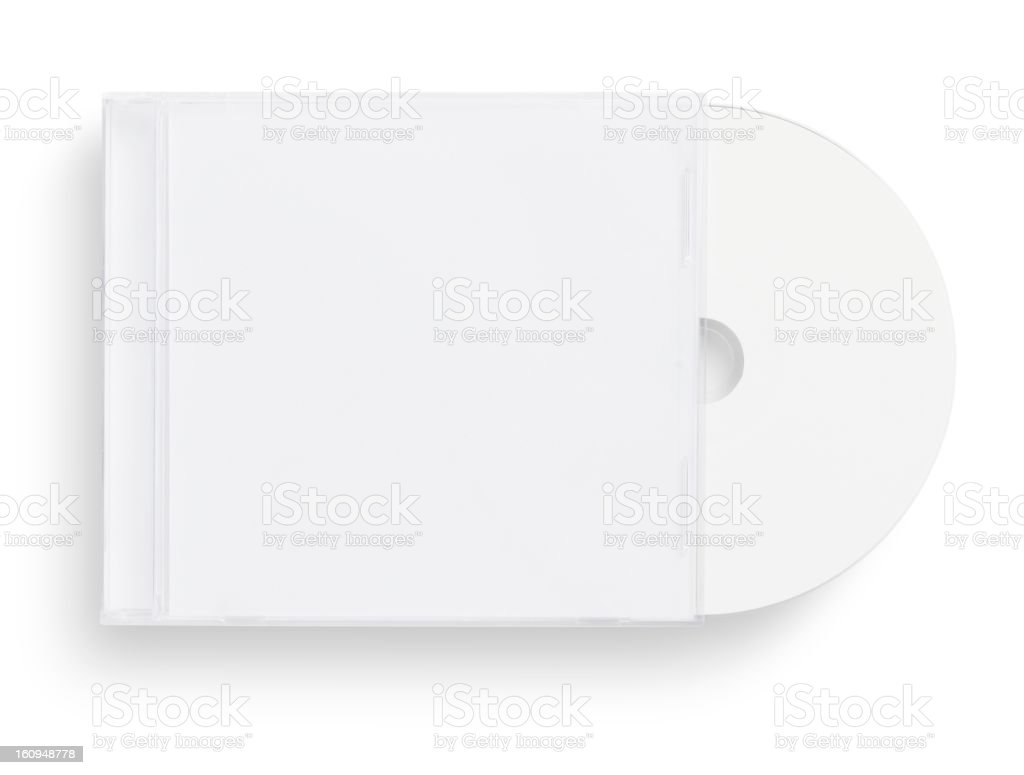 empty CD,DVD case royalty-free stock photo