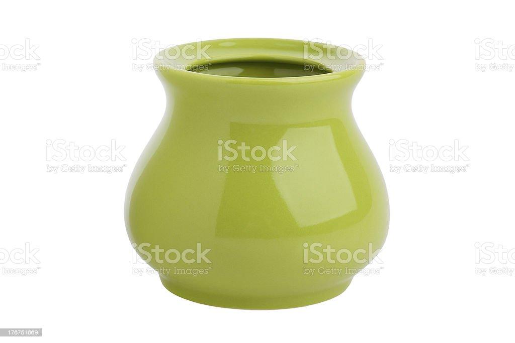 Empty ceramic sugar bowl royalty-free stock photo