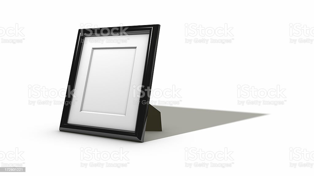 empty cg picture frame stock photo
