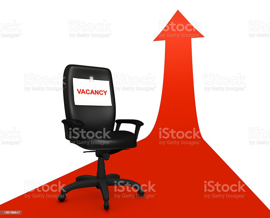 Empty chair and career royalty-free stock photo