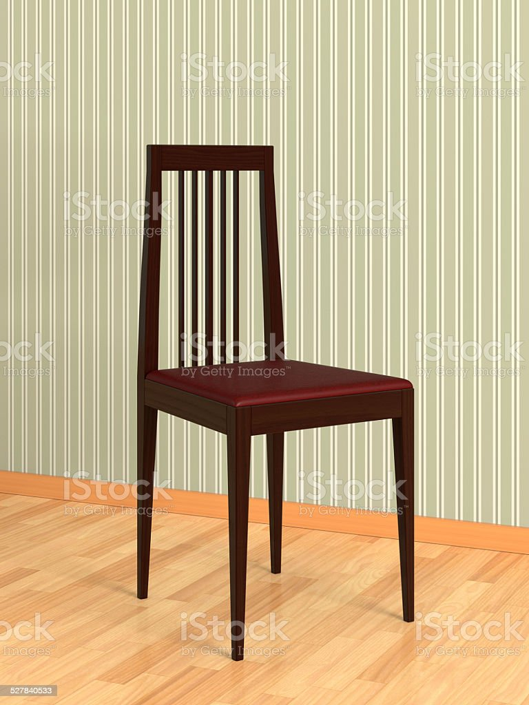 Empty Chair in Room stock photo