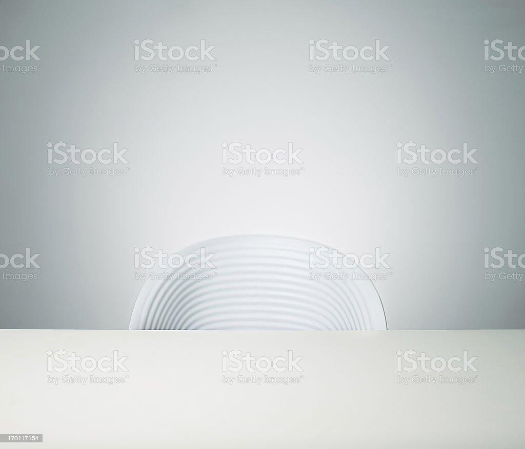 Empty chair stock photo