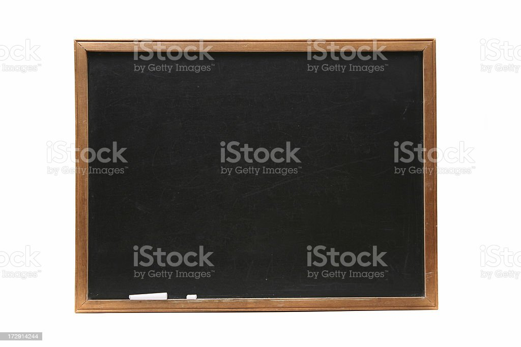 Empty chalkboard royalty-free stock photo