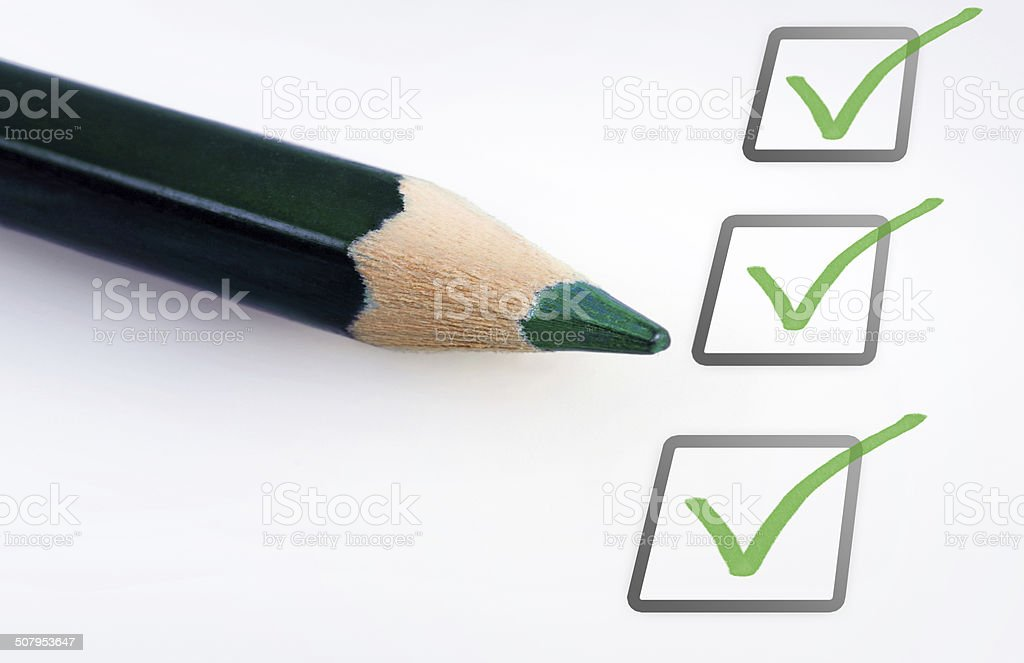 Empty checklist stock photo