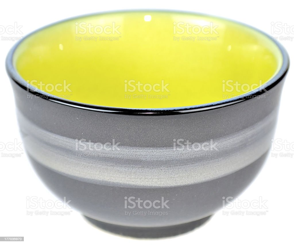 Empty Chinese Tea Bowl royalty-free stock photo