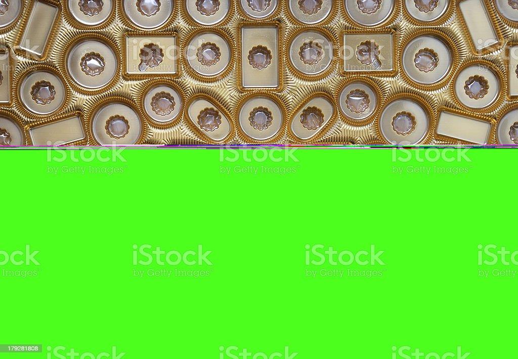 Empty chocolate box stock photo