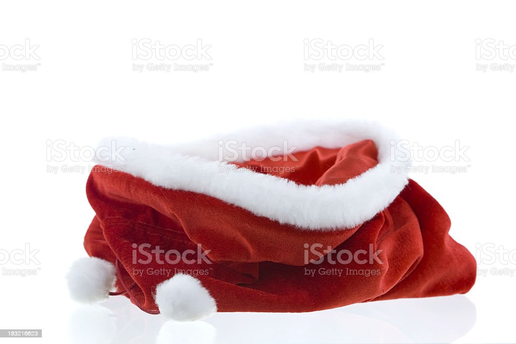 empty christmas bag stock photo