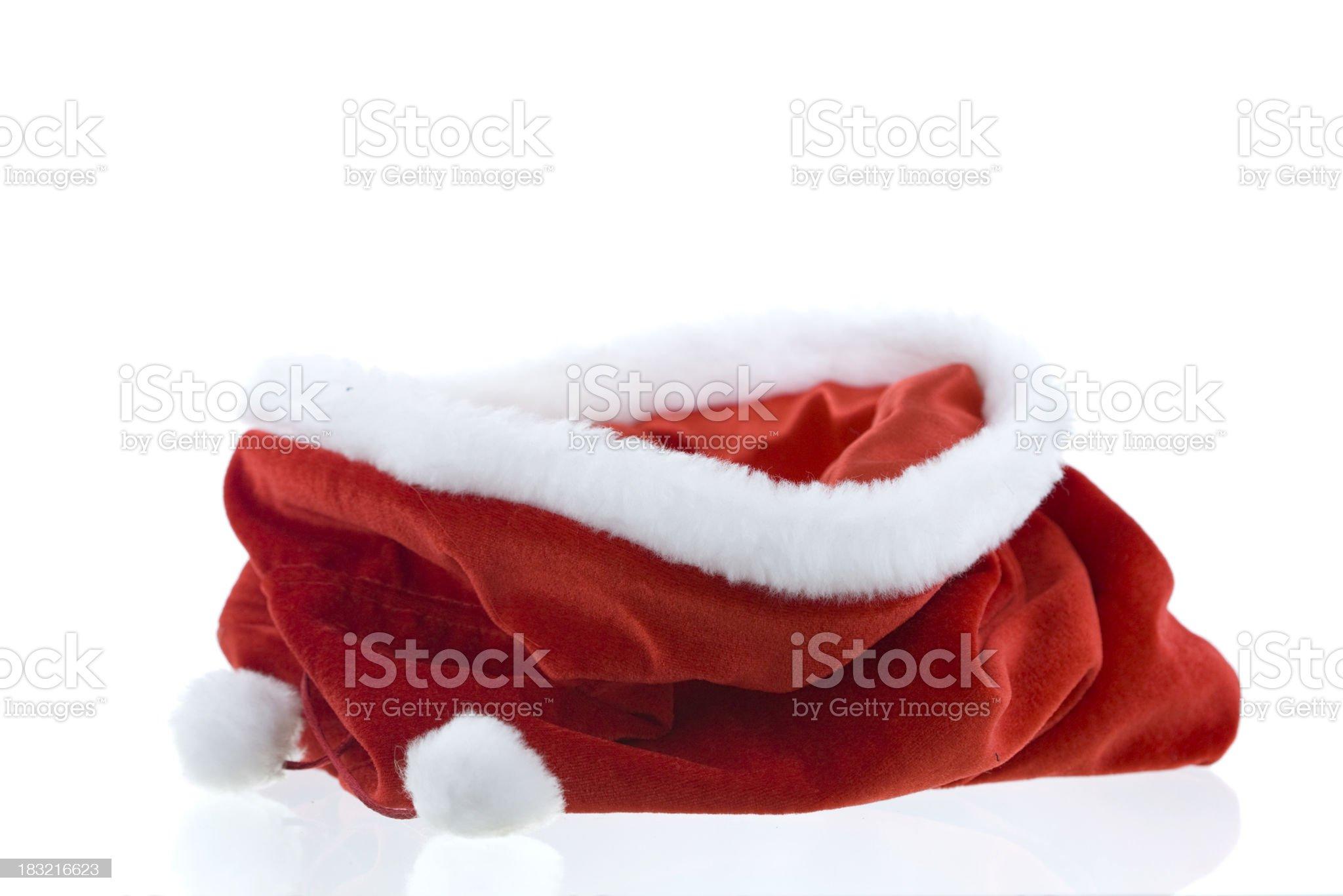 empty christmas bag royalty-free stock photo