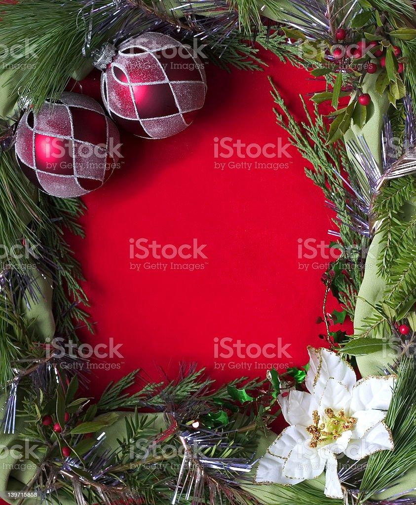 empty christmas frame royalty-free stock photo