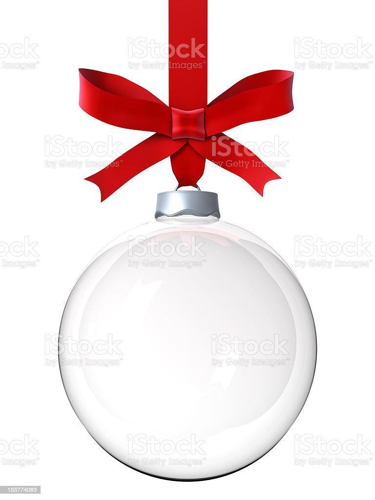 Empty Christmas ornament stock photo