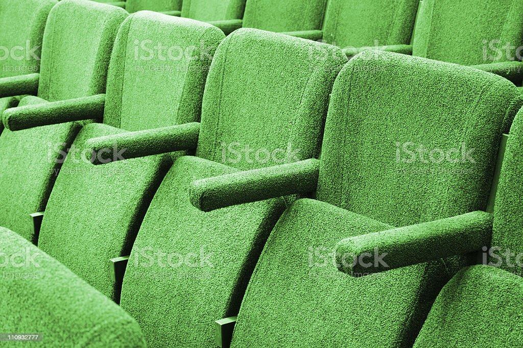 Empty cinema auditorium background royalty-free stock photo