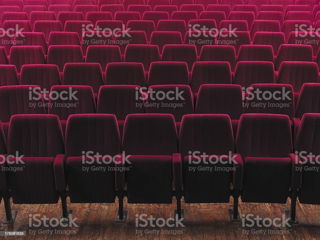 empty cinema seats stock photo