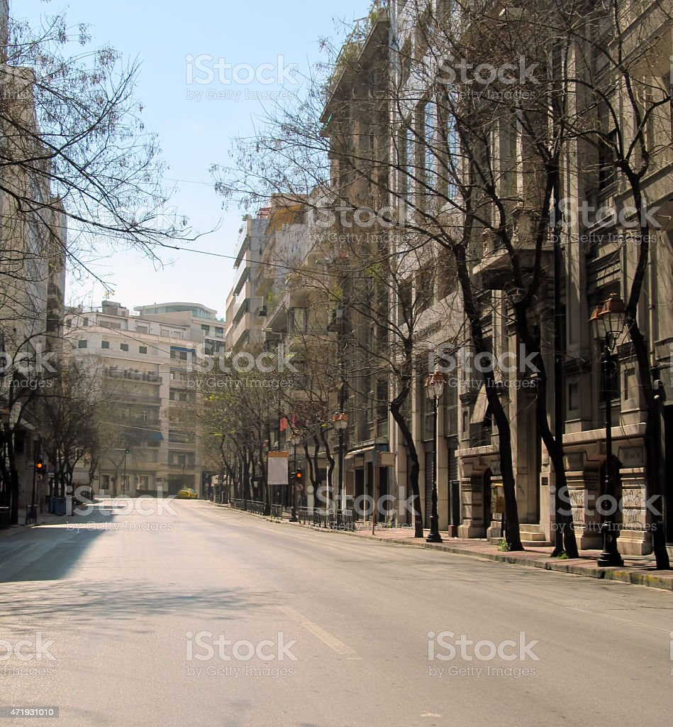 empty city stock photo