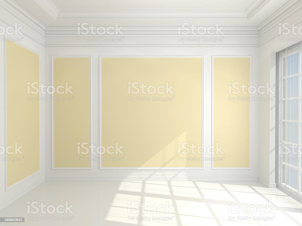 Empty classic interior stock photo